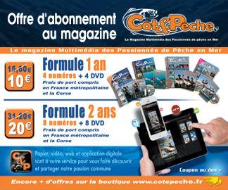 Abonnement magazine de pêche en mer